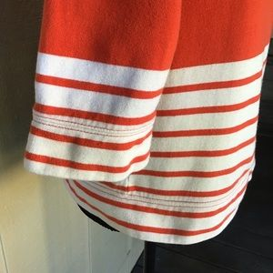 J. Crew Tops - J. Crew- Cotton Striped, Cropped Sweatshirt